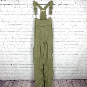 Anthropologie Olive Green Jumpsuit Overalls